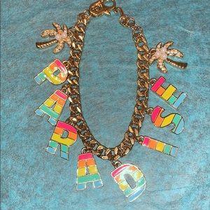 """Juicy Couture 7 1/2"""" Paradise Rainbow Bracelet"""